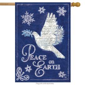 Peace On Earth Christmas House Flag