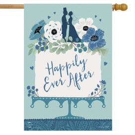 Happily Ever After Wedding House Flag