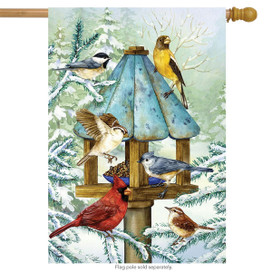 Cold Feet, Warm Hearts Winter House Flag