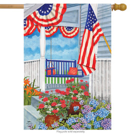 Patriotic Porch Spring House Flag