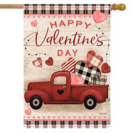 Valentine's Love Pickup Primitive House Flag