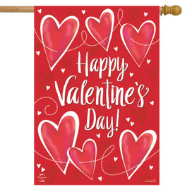 String of Hearts Valentine's Day House Flag
