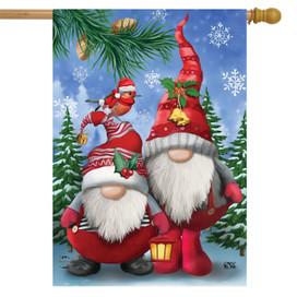 Winter Gnomes Christmas House Flag