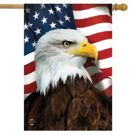 American Eagle Patriotic House Flag