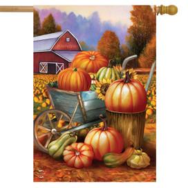 Pumpkin Farm Fall House Flag