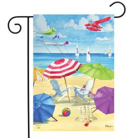 Umbrella Coast Summer Garden Flag