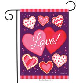 Sweet Valentine Garden Flag