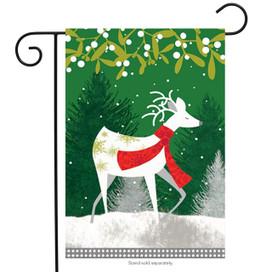 Winter Reindeer Garden Flag