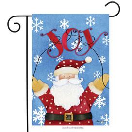 Joy Santa Holiday Garden Flag