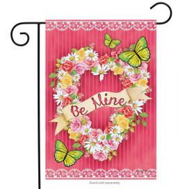 Be Mine Valentine's Day Wreath Garden Flag