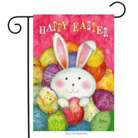 Happy Easter Eggs Garden Flag