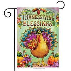 Thanksgiving Blessings Garden Flag