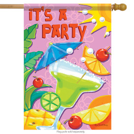 It's A Party Summer House Flag