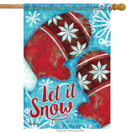 Smitten Mittens Winter House Flag