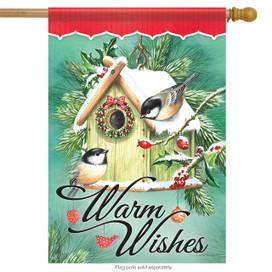Birdhouse Trimmings Christmas House Flag