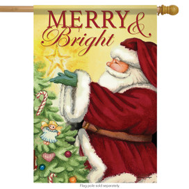Bright Star Santa Christmas House Flag