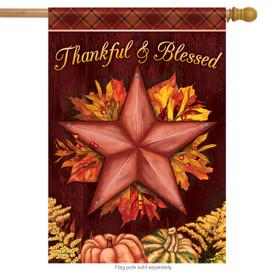 Thanksgiving Star House Flag