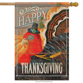 Turkey Day Thanksgiving Holiday House Flag