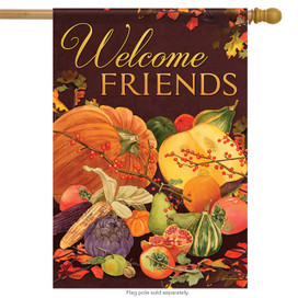 Harvest Welcome Friends House Flag