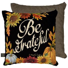 Be Grateful Fall Decorative Pillow