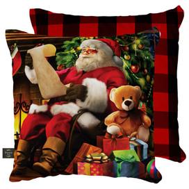 Naughty or Nice Christmas Decorative Pillow