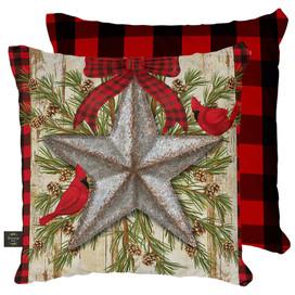 Festive Barnstar Winter Decorative Pillow