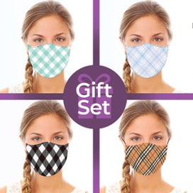 Patterned Reusable Cloth Face Mask Gift Set (4-piece Collection)