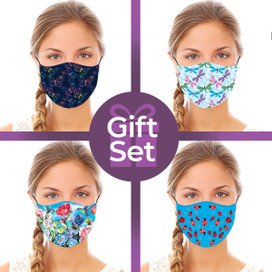 Nature Designs Reusable Cloth Face Mask Gift Set (4-piece Collection)