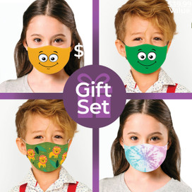 Children's Reusable Cloth Face Mask Gift Set (4-piece Collection)