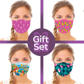 Summer Reusable Cloth Face Mask Gift Set (4-piece Collection)