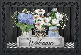 Crated Mason Jars Spring Doormat