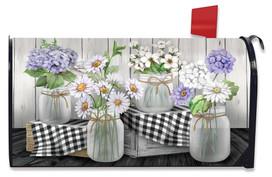 Checkered Mason Jars Spring Mailbox Cover