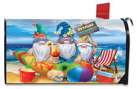Summer Gnomes Humor Mailbox Cover