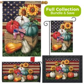 Patriotic Pumpkins Autumn Design Collection