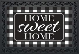 Home Sweet Home Checkers Everyday Doormat