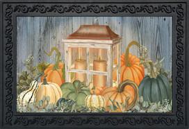 Autumn's Glow Lantern Farmhouse Doormat
