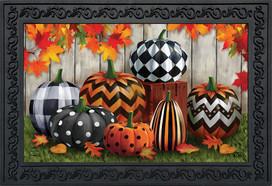 Patterned Pumpkins Autumn Doormat