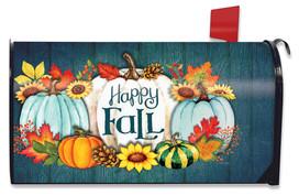 Happy Fall Pumpkins Primitive Mailbox Cover