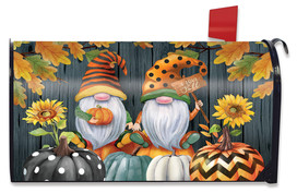 Fall Gnomes Humor Mailbox Cover