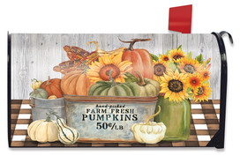 Farm Fresh Bushel Autumn Mailbox Cover
