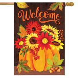 Pumpkin Bouquet Fall House Flag