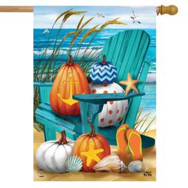 Fall At The Beach House Flag