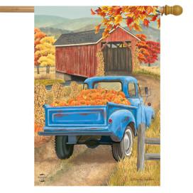 Autumn Bridge Truck House Flag