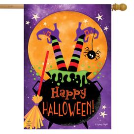 Witch Feet Halloween House Flag