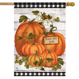 Happy Fall Y'all Pumpkins Farmhouse House Flag