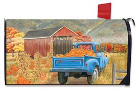 Autumn Bridge Truck Mailbox Cover