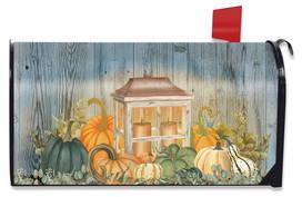 Autumn's Glow Lantern Farmhouse Mailbox Cover
