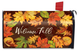Leaf Toss Fall Large / Oversized Mailbox Cover