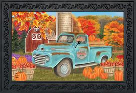 Fresh Picked Pumpkins Fall Doormat
