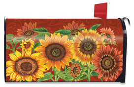 Colorful Sunflowers Fall Mailbox Cover